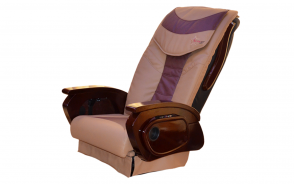 Massage Two tones Cappuccino & Burgundy_Armrest Wood