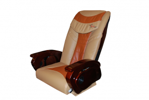 Massage Two tones Brick & Cappuccino_Armrest Wood