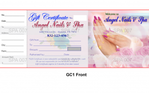 GC1 Gift certificate