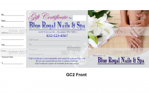 GC2 Gift certificate
