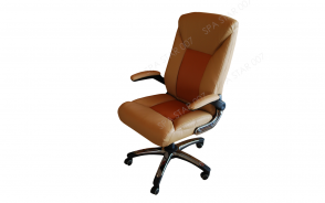 Office Chair 2 tones Brown & Brick